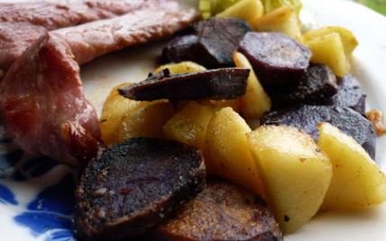 Poêlée colorée pommes / pommes de terre vitelottes - Photo par judithpK