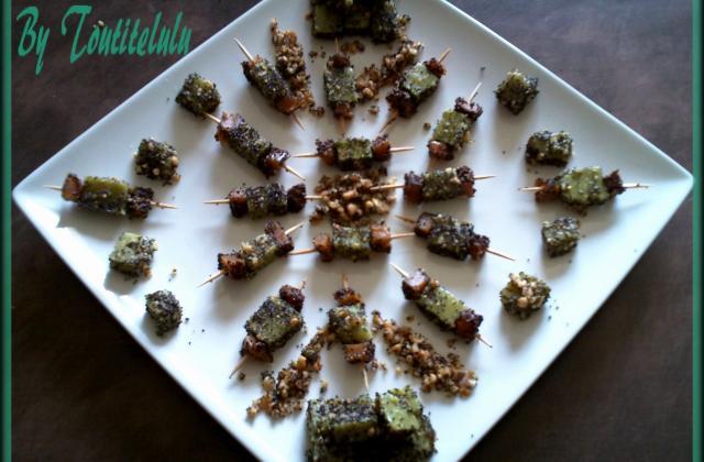 Tits cubes de courgette fondants et épicés aux éclats de cacahuète - Photo par Toutitelulu