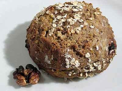 Pain tout rond au potiron, marron et noix - Photo par gwenSC