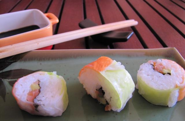 Maki avocat, surimi, saumon ...  inversé - Photo par Neige de Tambouille-Tout