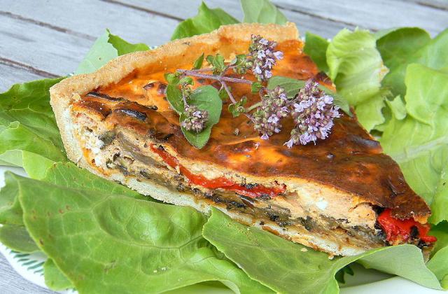 Tarte estivale aux légumes grillés - Photo par La soupe à la citrouille