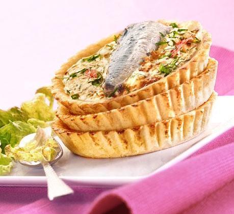 Tarte basquaise aux sardines pimentées - Photo par Saupiquet