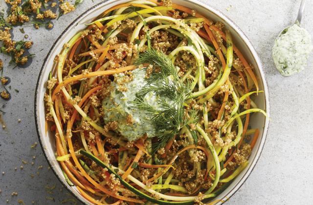Spaghetti de légumes multicolores - Photo par 750g
