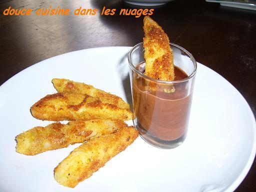 Frites de poire sauce chocolat - Photo par brigitXg