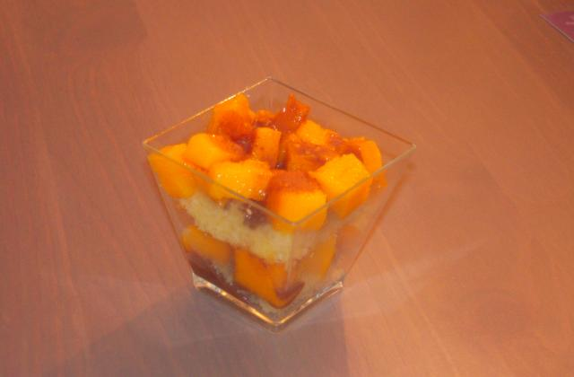Verrines mangue chocolat - Photo par julietGLY