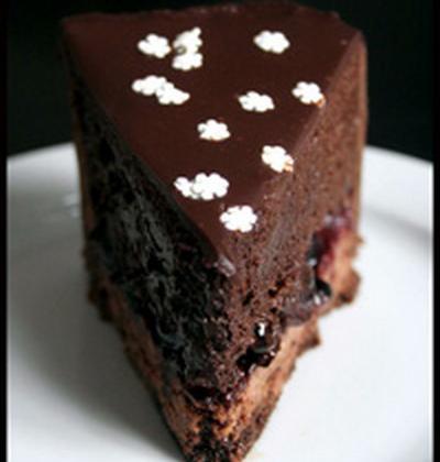 Entremet chocolat, cassis et vinaigre balsamique - Photo par loukou