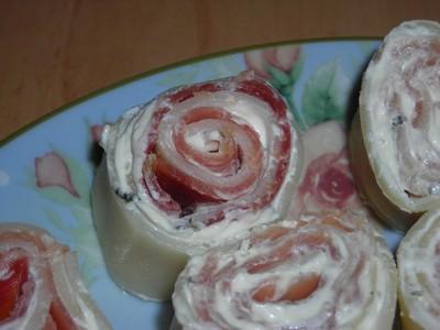 Rouleaux de lasagnes au saumon - Photo par cayouc