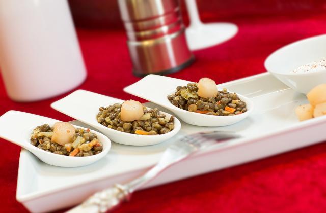 Lentilles aux noix de Saint-Jacques - Photo par Tipiak