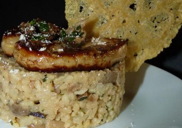Risotto aux cèpes et au foie gras pour les fêtes - Photo par heleneLf9