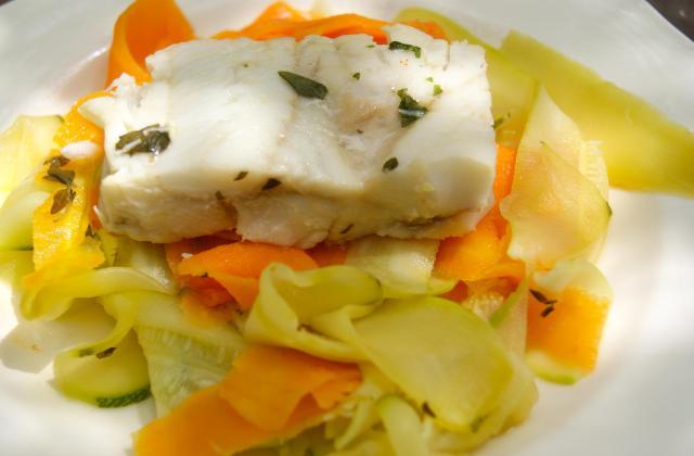 Cabillaud et ses tagliatelles de légumes - Photo par La ptite cuisine de Pauline