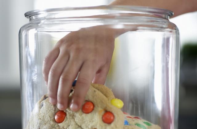Cookies au beurre de cacahuètes et smarties - Photo par Bienvenue chez vero