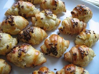 Mini-croissants au Boursin - Photo par Casa-Breizh