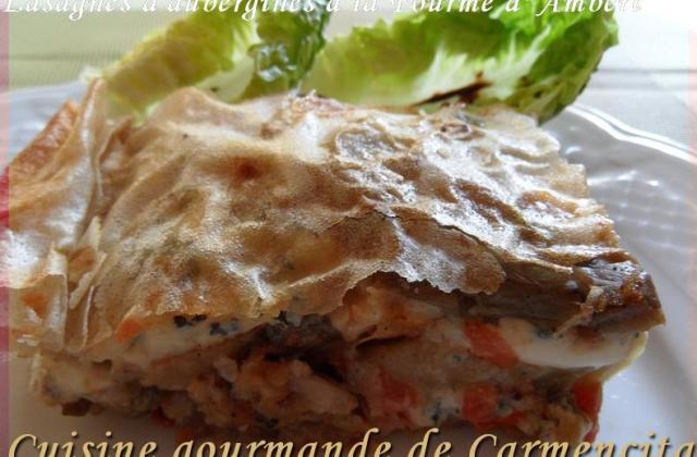 Lasagnes d'aubergines à la Fourme d'Ambert - Photo par Carmen