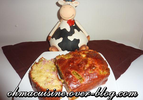 Cake raclette et asperges - Photo par ohmacuisine