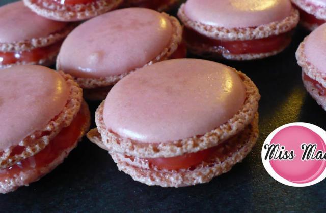 Macarons fraise Tagada traditionnels - Photo par heygaelle
