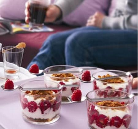 Cheesecake aux framboises facile - Photo par Luminarc