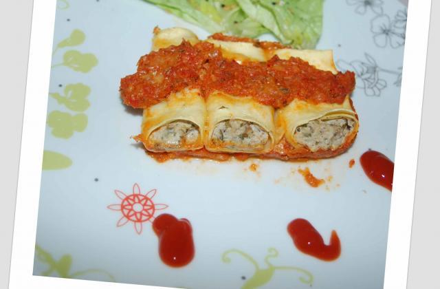 Cannelloni sardine et ricotta - Photo par nanie301