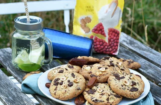 Cookies énergie sans gluten chocolat et fruits secs - Photo par Dorian Nieto x Schär
