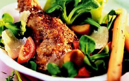 Salade Caesar au lapin gourmande - Photo par Lapin de France