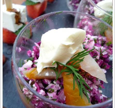 Verrine de semoule de chou fleur au haddok maison - Photo par aurorewn