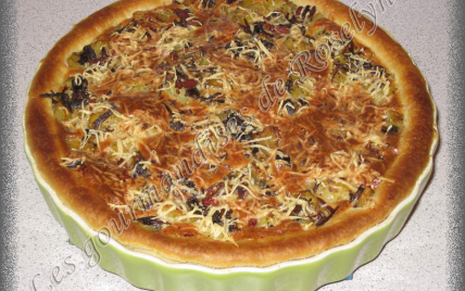 Tarte champignons / pommes de terre - Photo par Roselyne45