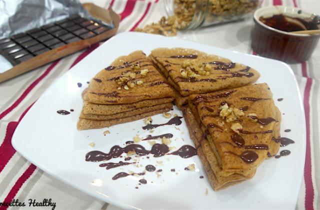 Crêpe vegan moelleuses vanille et chocolat - Photo par Mes recettes healthy