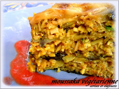 Moussaka végétarienne très parfumée - Photo par sylvetM