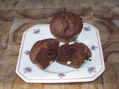 Muffins au chocolat et aux noix - Photo par kalink