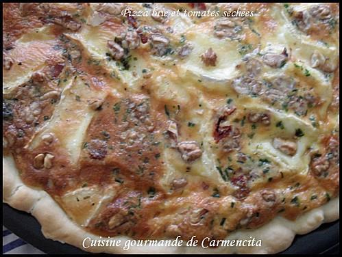 Pizza au Brie et tomates séchées - Photo par Carmen