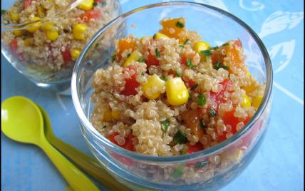 Salade croquante de quinoa aux poivrons - Photo par Nad0511