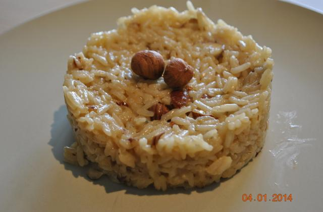Risotto au gorgonzola & noisettes - Photo par sucette violette