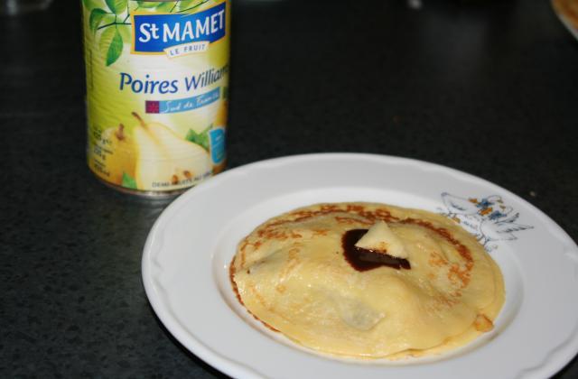 Crêpes poire-chocolat - Photo par gaelle242