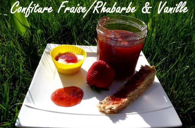 Confiture rhubarbe/fraise & vanille au Cooking Chef - Photo par chouya