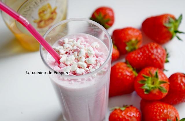 Boisson aux fraises et sirop de gingembre - Photo par Ponpon
