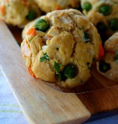 Cookies salés aux Corayas et petits pois - Photo par Coraya