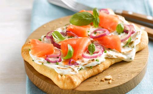 Mini pizzas au saumon - Photo par philad3