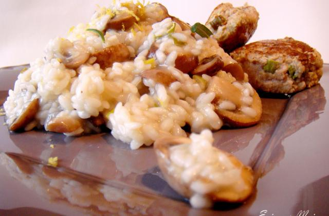 Risotto au citron, champignons, romarin et boulettes de veau citronnées - Photo par Epices & Moi