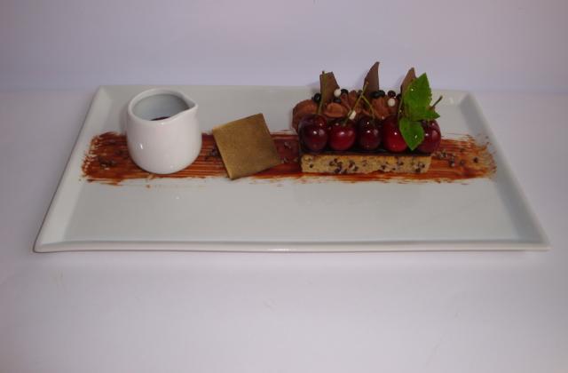 Choc ' Cherry : mon dessert 100% chocolat et quelques cerises - Photo par Sandrine Baumann