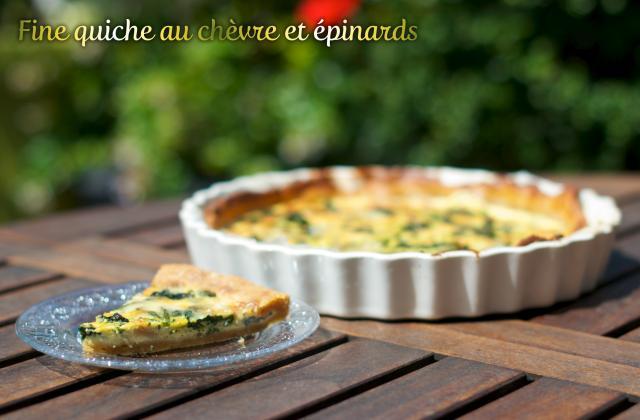 Fine quiche au chèvre et épinards - Photo par blogch