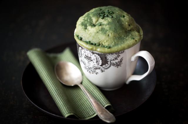 Mug cakes au thé matcha - Photo par CNIEL - Les produits laitiers