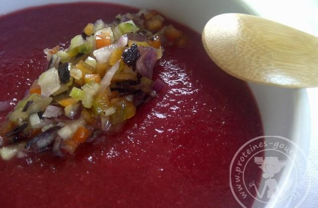 Gaspacho de framboises - Photo par Souba