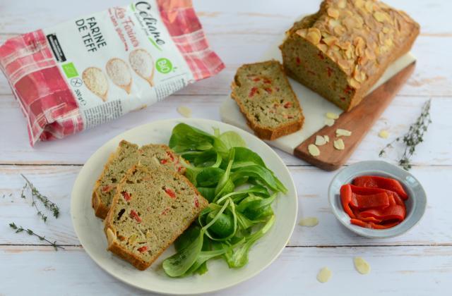 Cake salé sans gluten aux légumes et aux amandes - Photo par Nadia Paprikas