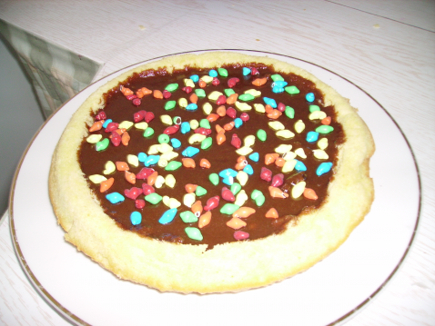 Gâteau au chocolat et Carambar fondant - Photo par lerond