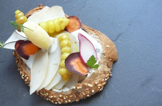 Tartine à la crème de Saint Agur et légumes oubliés - Photo par marionP6
