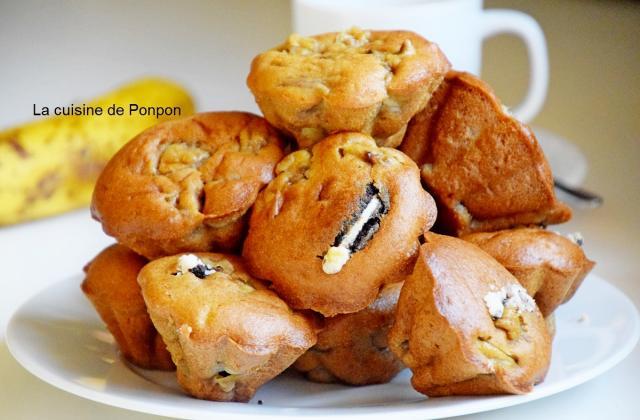 Muffins aux bananes et oréos - Photo par Ponpon