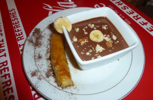 Bananes flambées au Noilly Prat ambré et sa crème au Nutella - Photo par wuls42