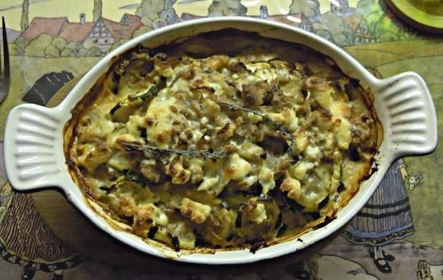 Tian de courgettes au thon et au Boursin cuisine aux trois poivres - Photo par cryfil