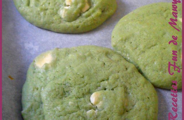 Cookies martiens à la pistache et au chocolat blanc - Photo par tataneN