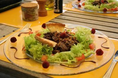 Salade aux foies de volaille de Chef Damien - Photo par Chef Damien