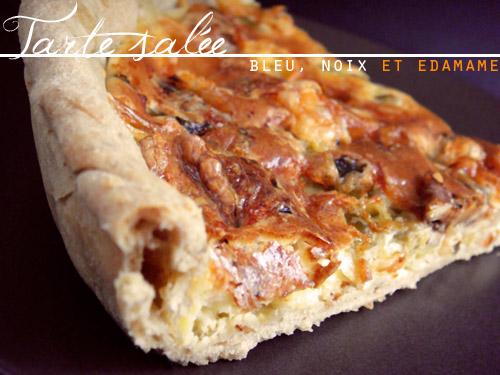 Tarte salée au bleu, noix, edamame, pâte brisée maison - Photo par greengeekfood